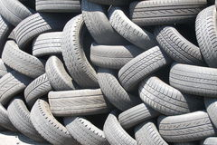 Tyres. Old tyres royalty free stock photo