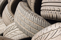 Tyres background Stock Photo