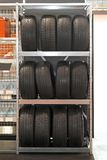 Tyres rack Royalty Free Stock Photography