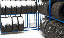Tyres on sale Stock Photos