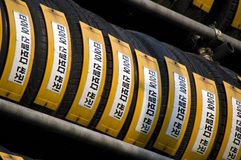 Tyres for sale in Korea Royalty Free Stock Photos