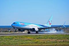 Tyres Smoke As Aircraft Lands Stock Photography