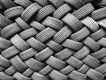 Tyres. Stack of worn tyres background Stock Images