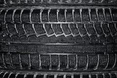 Tyres texture closeup. Stock Photography