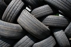 Tyres used Stock Image