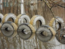 Tyres in water Stock Photos