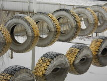 Tyres in water Royalty Free Stock Images