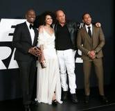 Tyrese Gibson Nathalie Emmanuel, Vin Diesel, broar för Christopher `-Ludacris ` Royaltyfria Bilder