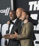 Tyrese Gibson och Ludacris sammanfogar Vin Diesel Royaltyfri Foto