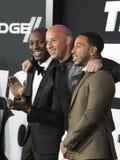 Tyrese Gibson und Ludacris verbinden Vin Diesel Lizenzfreies Stockfoto
