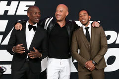 Tyrese Gibson, Vin Diesel, Christopher ` Ludacris ` mosty Zdjęcia Royalty Free