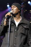Tyrese performing live. Royalty Free Stock Images