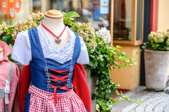 Tyrol traditional clothes. Corset half body Royalty Free Stock Photos