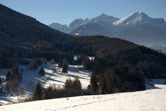 tyrol vinter Arkivfoton