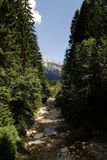 Tyrolean Alps. Adventure on the river in the Tyrolean Alps Royalty Free Stock Photography