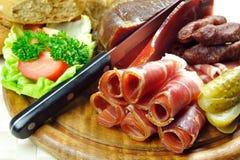 tyrolean baconplatta Arkivbilder