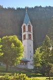 Tyrolean church. In Val di Fassa in the Italian Dolomites stock photos