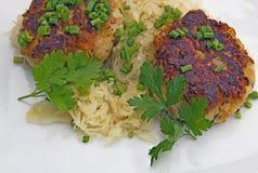 Tyrolean dumpling specialty Stock Image