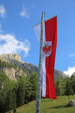 Tyrolean Flag. At Mountain Hut in South Tyrol. Italy royalty free stock images