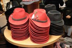 Tyrolean Hats. Souvenir shop window, Salzburg, Austria Royalty Free Stock Photography