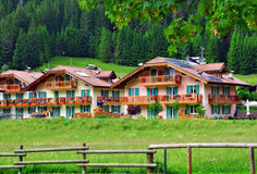 Tyrolean houses Royalty Free Stock Images