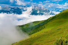 Tyrolean montering arkivbild
