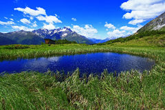 Tyrolean mountain lake Stock Photos
