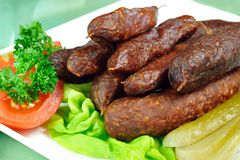 Tyrolean smoked sausages Stock Image