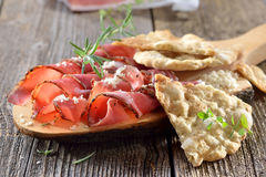 Tyrolean snack with bacon Stock Photography