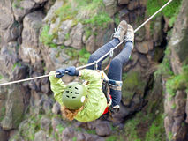 Tyrolean traverse royalty free stock images