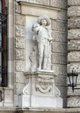 Tyrolean or Tyrolian Defender by Johann Silbernagl, Neue Burg or New Castle, Vienna, Austria. Pictured is one of twenty statues on the façade of the Neue Burg royalty free stock photography