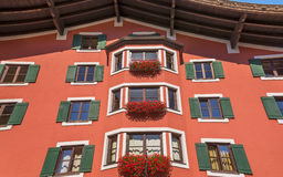 Tyrolean windows in  Austria Royalty Free Stock Photo