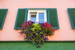 Tyrolean windows in  Austria Royalty Free Stock Photos