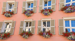 Tyrolean windows in  Austria Stock Images