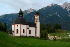 tyrolian的教会 库存照片