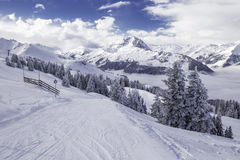 Tyrolian Alps in Austria from Kitzbuehel ski resort Royalty Free Stock Photography