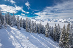 Tyrolian Alps in Austria from Kitzbuehel ski resort Stock Images