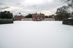 Tyron Palace i snön Arkivbilder