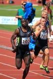 Tyrone Edgar - 100 Meter in Prag 2012 Lizenzfreies Stockbild