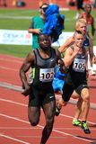 Tyrone Edgar - 100 metres in Prague 2012 Royalty Free Stock Image