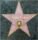 Tyrone Power's star on Hollywood Royalty Free Stock Image