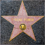 Tyrone Power`s star on Hollywood Walk of Fame Stock Image