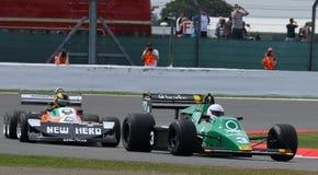Tyrrell 012和3月2-4-0经典惯例1格兰披治汽车 免版税库存照片