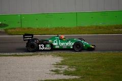 Tyrrell 011 1983年惯例1前米谢勒Alboreto 免版税库存图片
