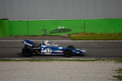Tyrrell 001 1970 före detta Jackie Stewart för formel 1 Royaltyfria Foton