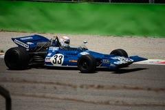Tyrrell 001 1970 före detta Jackie Stewart för formel 1 Arkivfoton