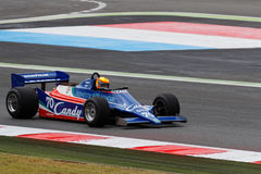 1980 Tyrrell F1 on track Royalty Free Stock Image