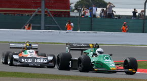 Tyrrell 012 and March 2-4-0 Classic Formula 1 Grand Prix Cars Royalty Free Stock Photo