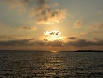 Tyrrhenian θάλασσα, ηλιοβασίλεμα Στοκ εικόνα με δικαίωμα ελεύθερης χρήσης