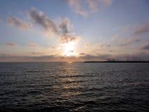 Tyrrhenian θάλασσα, ηλιοβασίλεμα Στοκ Εικόνα